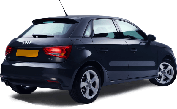 Rear of black Audi A1